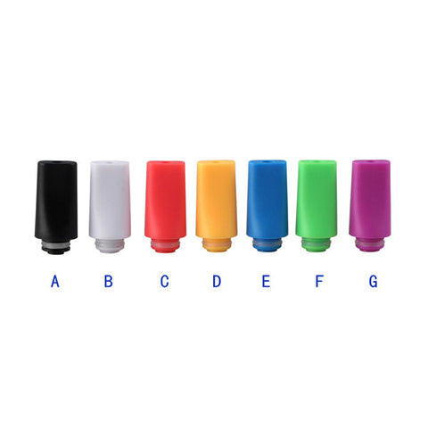 Colourful Plastic Flat Tapered Drip Tips (PLA026)