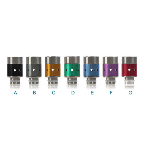 Aluminium & Stainless Steel Adjustable Air Flow Wide Bore Drip Tips (AIR003)