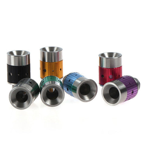Aluminium & Stainless Steel Multi-Hole Adjustable Air Flow Wide Bore Drip Tips (AIR003)
