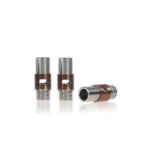 Stainless Steel & Brass Or Copper Dual Hole Adjustable Air Flow Wide Bore Drip Tips (AIR005)
