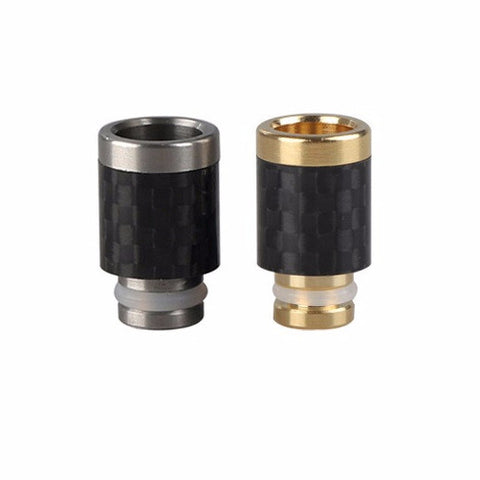 Stainless Steel & Carbon Fibre Wide Bore Drip Tip (CF003)