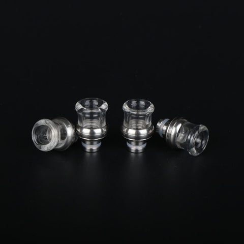 Stumpy Glass & Stainless Steel Bowl Design Wide Bore Drip Tip (GLS025)