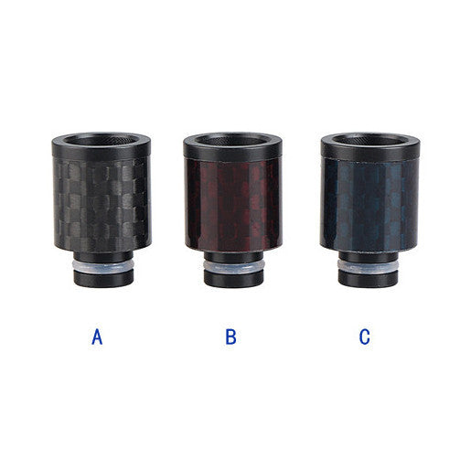Short Carbon Fibre Wide Bore Drip Tips (CF001)