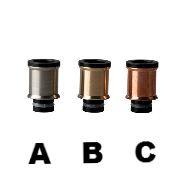 Cauldron Style Stainless Steel & Delrin Wide Bore Drip Tips (SS037)