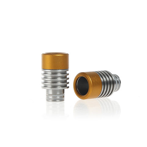 Aluminium & Stainless Steel Gyroidal Wide Bore Drip Tips (ALU002)
