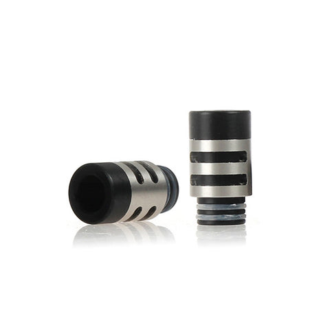 King Stainless Steel & Delrin Wide Bore Drip Tips (SS022)