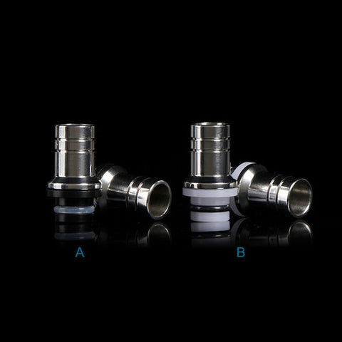 Stainless Steel & Delrin Domed Wide Bore Drip Tips (SS021)