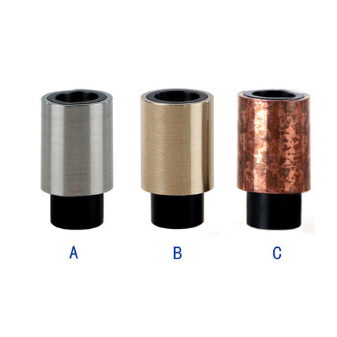 Stainless Steel & Delrin Friction Fit Wide Bore Drip Tips (SS024)