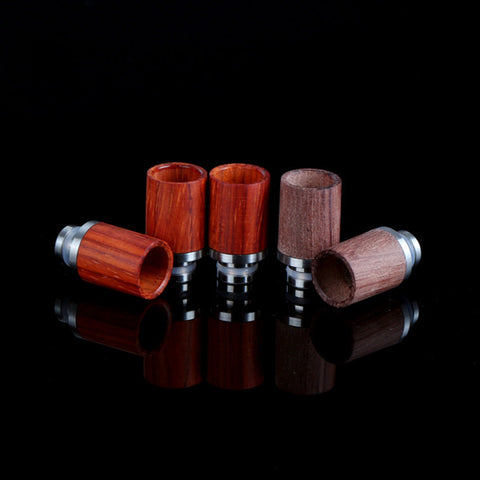 Short Stainless Steel & Wood Wide Bore Drip Tips (WD001)