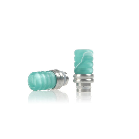 Stainless Steel & Acrylic Ribbed Wide Bore Drip Tips (ACR004)