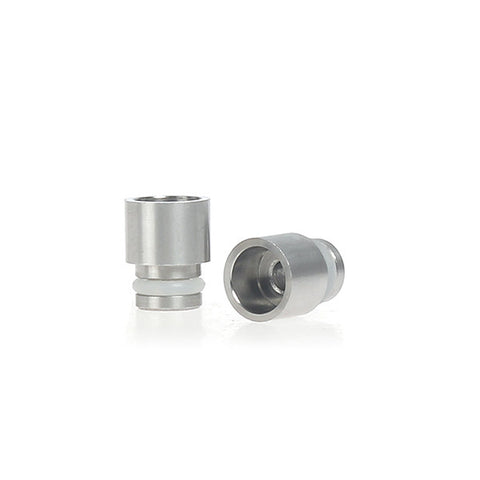 Short Wide Bore Stainless Steel Drip Tip / 510 Adaptor (SS005)