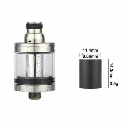 Aspire Nautilus X & Aspire PockeX Smooth Wide Bore Drip Tip / 510 Adaptor (NAU001)