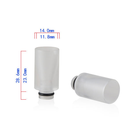 Transparent Acrylic Wide Bore Drip Tip (ACR001)
