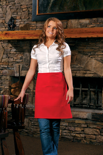 Half-Bistro Apron with Center Divided Pocket