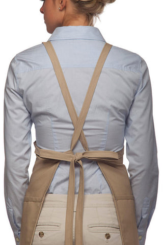 Criss Cross Three Pocket Bib Apron, 24 X 28