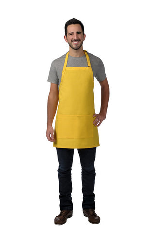 "Bib Apron - 28"" w/ Center Divided Pocket"