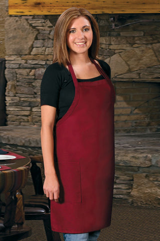 Two Pocket Bib Apron Adj Neck, 30""