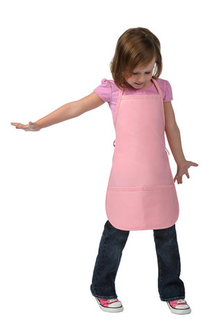 Kids Bib Apron Two Pocket Non-Adj Neck