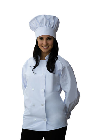 Long Sleeve Chef Coat Chest Pocket & Sleeve Pocket