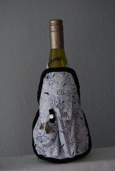 Wine Bottle Aprons - Floral