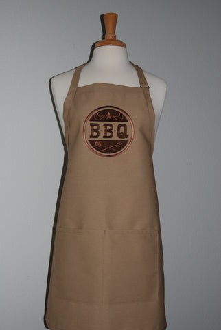 embroidered BBQ apron