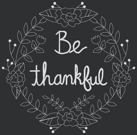 Designs - Be Thankful Wreath