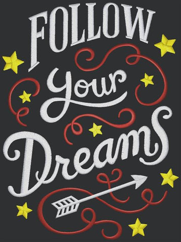 Chalkboard - Follow Your Dreams, color