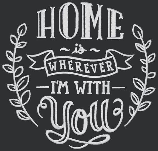 Chalkboard - Home is Wherever You