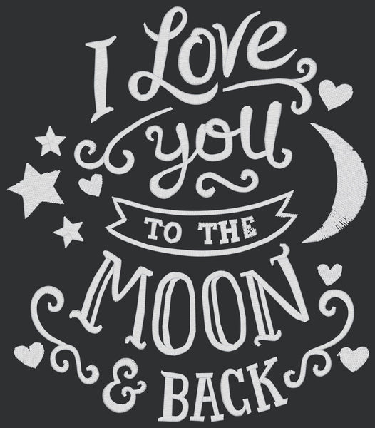 Chalkboard - Love You to the Moon