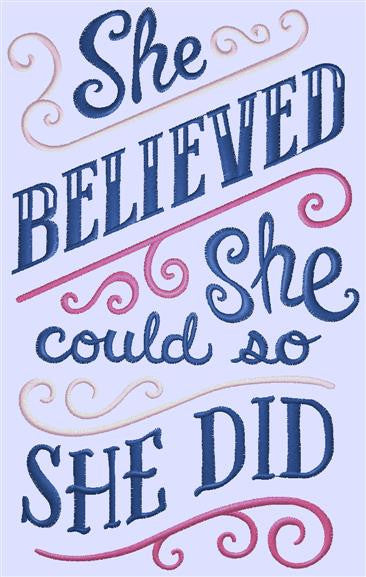 Chalkboard - She Believed She Could, color