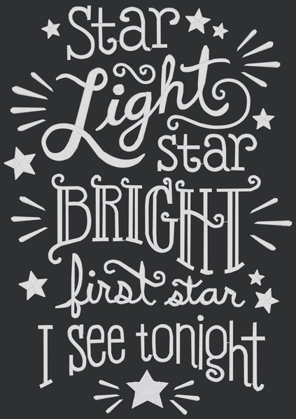 Chalkboard - Star Light, Star Bright