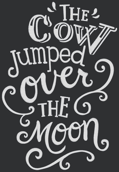 Chalkboard - The Cow Jumped Over the Moon
