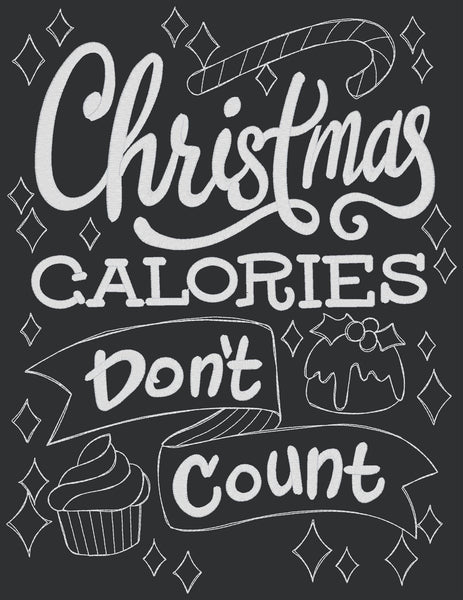 Chalkboard - Christmas Calories Don't Count