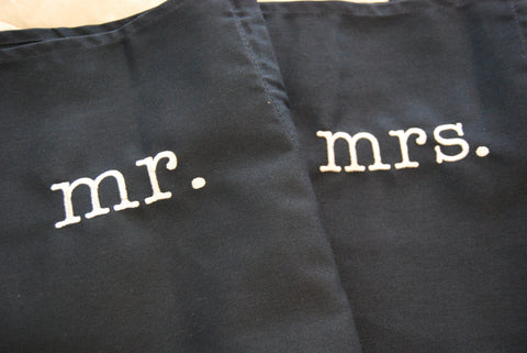 Wedding Apron - mr. and mrs.