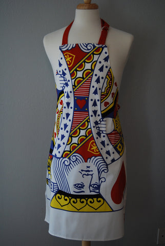 Wedding Apron - King/Queen of Hearts