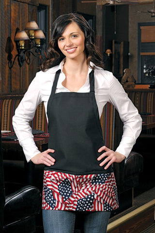 American Flag Three Pocket Bib Apron