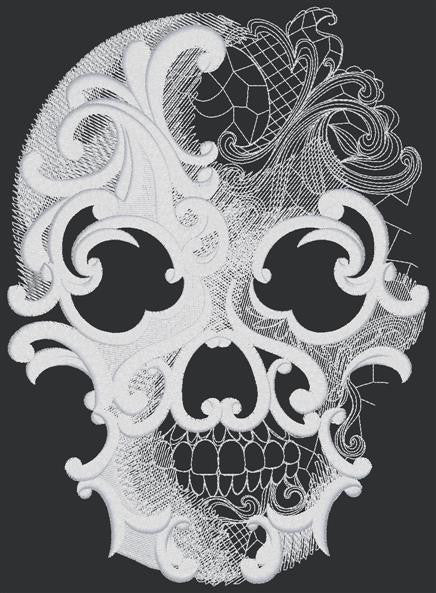 Designs - Ghost Baroque Skull