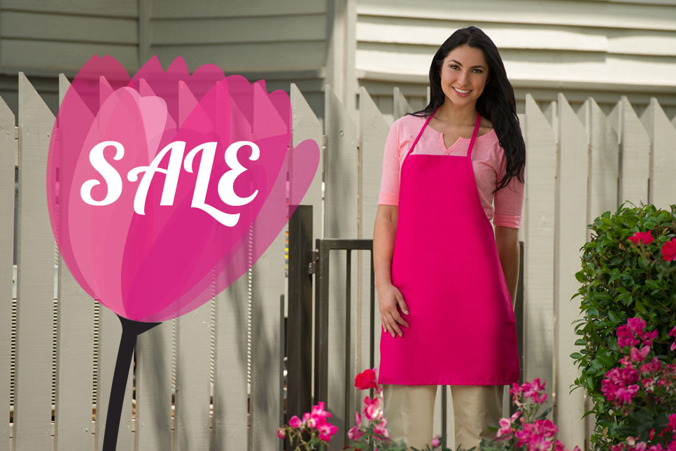 Click here for our current sales on aprons