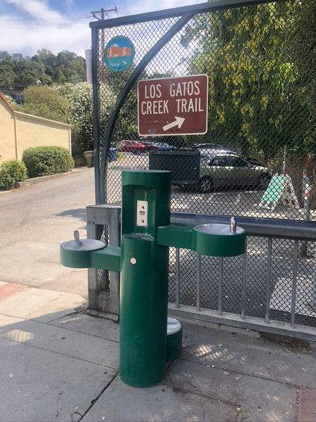 Water fountain pictured near Los Gatos Creek Trail