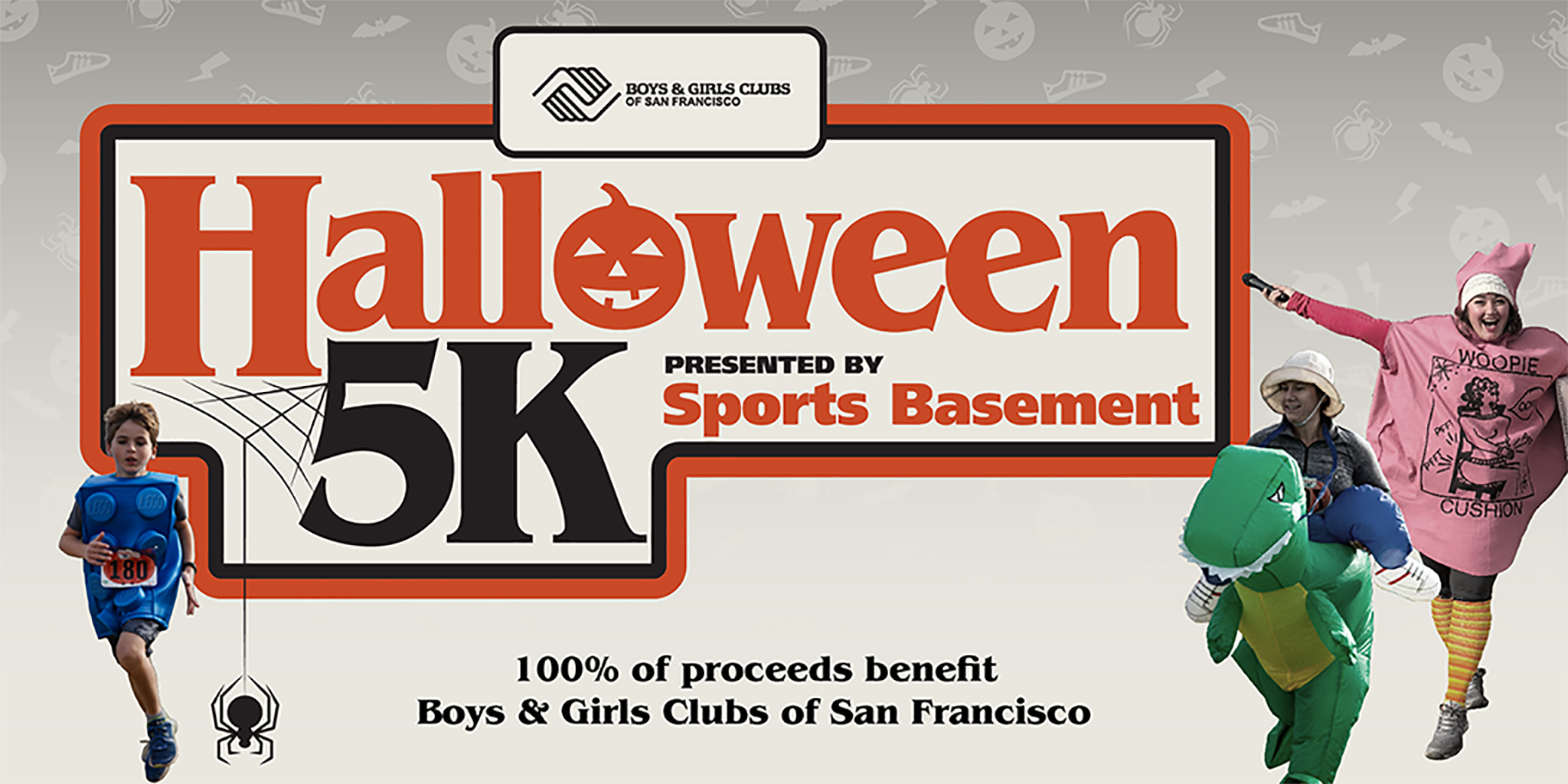 Sports Basement presents the 2020 Halloween 5K. 100% of proceeds benefit Boys and Girls Clubs of San Francisco.