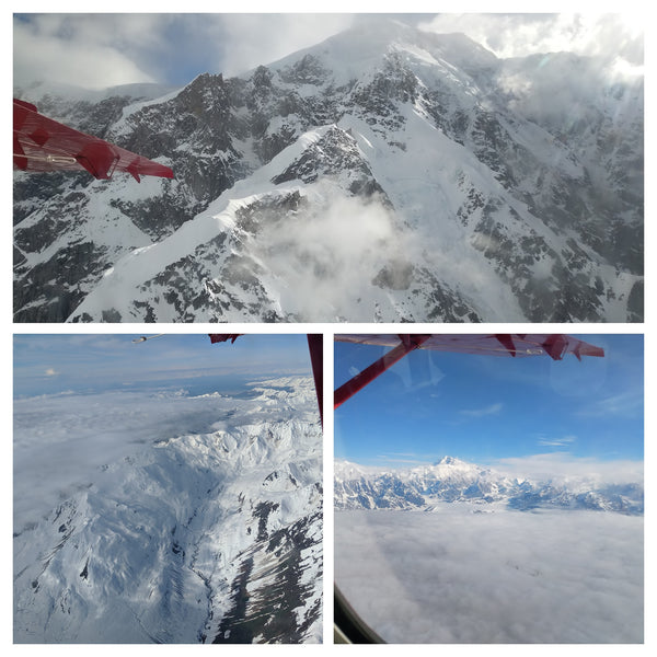 Views of Denali from the airplane window.