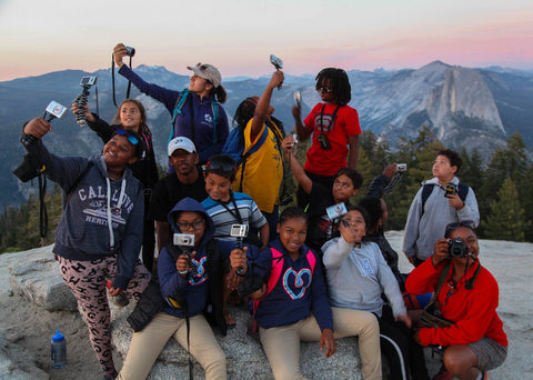Group of R.O.C.K kids posing for a group picture in Yosemite.