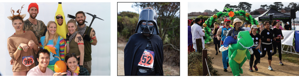 Photo collage from the costume contest at the Sports Basement Halloween 5K.