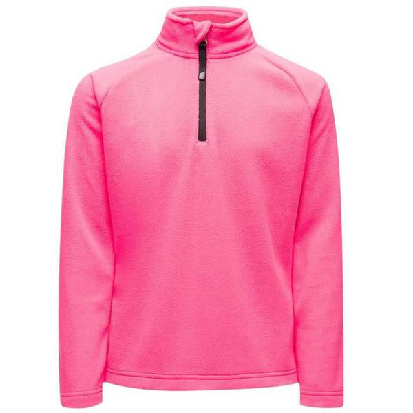 Spyder Girls' Speed Fleece Zip T-Neck