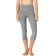 Women's Spacedye High Waisted Capri Legging