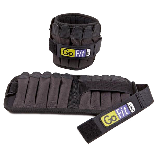 GoFit Padded Pro Ankle Weights 10 lb (1 Pair)