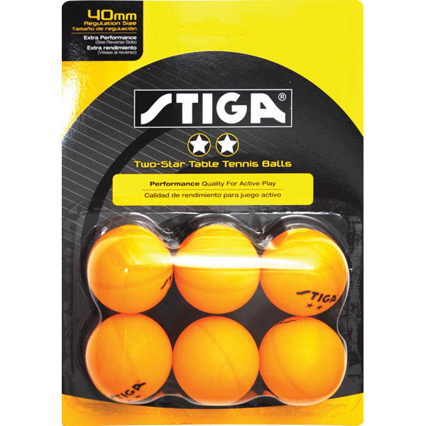 2 Star Orange 6 Pack TT Balls