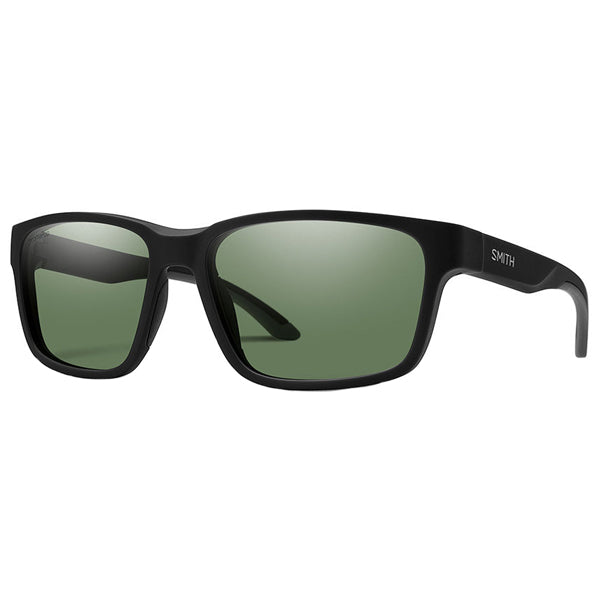 Basecamp - Matte Black / ChromaPop Polarized Gray Green