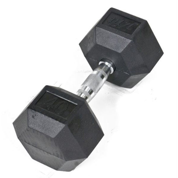 40Lb Rubberhex Dumbell