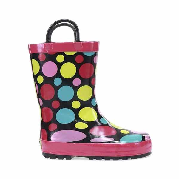Western Chief Youth Dot Party Rainboot (5-10)